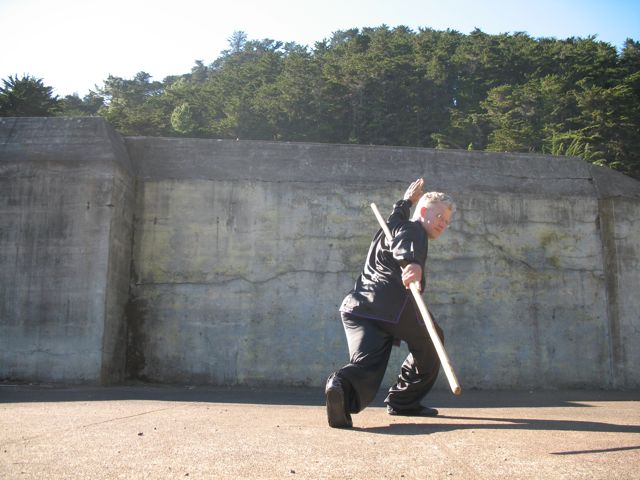 Earth Dragon Staff from Northern Shaolin Kung Fu is demonstrated by Sifu Scott Jensen who teaches in Berkeley, Oakland, San Francisco, and Marin.